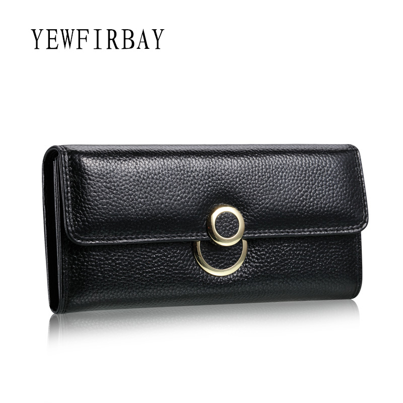 YEWFIRBAY brand wallet women wallets new fashion female cards holders genuine leather wallet coin purses lady wallet with ring free shipping new women s wallet cowhide genuine leather wallet for women famous brand wallet plaid shape hot cute women purses