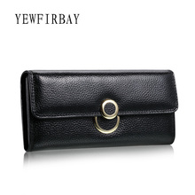 YEWFIRBAY brand wallet women wallets new fashion female cards holders genuine leather wallet coin purses lady wallet with ring