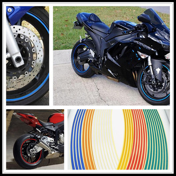 Strips Motorcycle Wheel Sticker Reflective Decals Rim Tape Bike Car Styling For YAMAHA FZ6S FZ6N Buell 1125CR 1125R M2 image