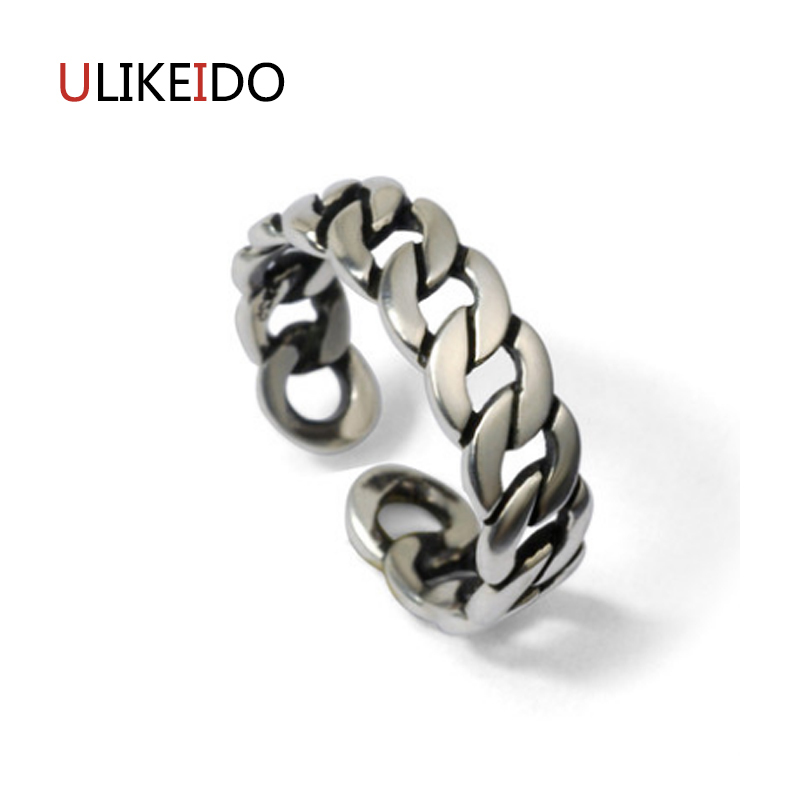 100% Pure 925 Sterling Silver Jewelry Grommet Rings Wide Version Men Signet Ring For Women Christmas Gift 1113