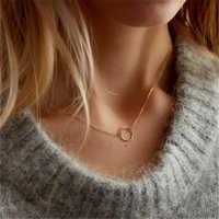 Collier cercle en or bijoux faits à la main personnalisé or rempli ras du cou pendentifs Collier Femme Kolye Collares femmes colliers bijoux