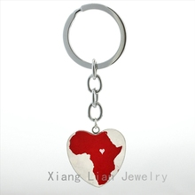 Popular african keychain buy cheap african keychain lots from fashion africa map heart pendant key chain ring vintage world travel love african jewelry galaxy nebula sciox Images