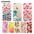 CROWNPRO Soft FOR Coque iPhone 5 5S SE 6 6S 7 8 Plus X Case Cover FOR Capa iPhone 6 Case FOR Fund iPhone 6S Case FOR iPhone 5