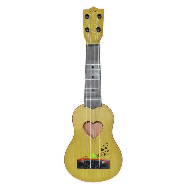 44 cm orange חום ירוק מיני Ukulele סימולציה גיטרה ילדי כלי נגינה צעצוע מוסיקה חינוך פיתוח ילדים יום הולדת C