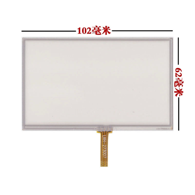 4.3inch Resistive Touch screen Panel glass For hsd043i9w1-a00 102*62