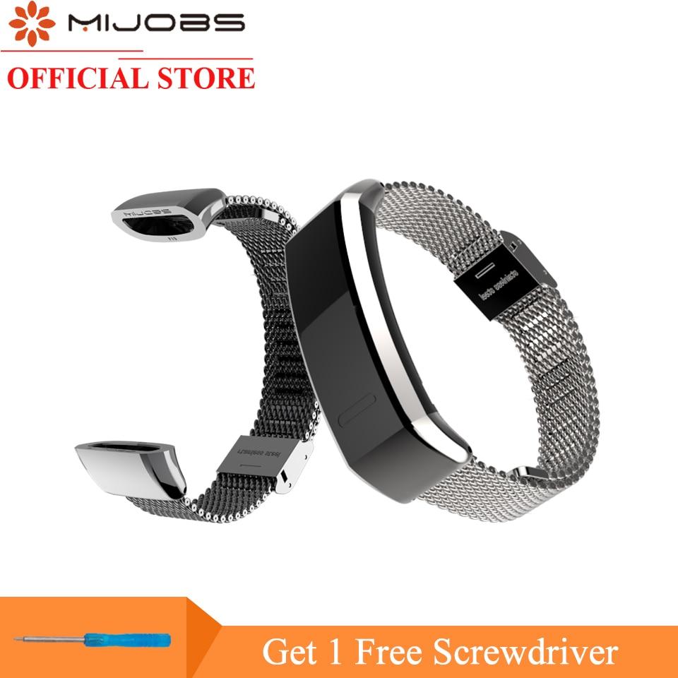 Mijobs Metal Strap for Huawei Sport Band 2 pro B29 B19 Smart Watch Wristband Replacement Wrist Strap for Huawei Watch Bracelet