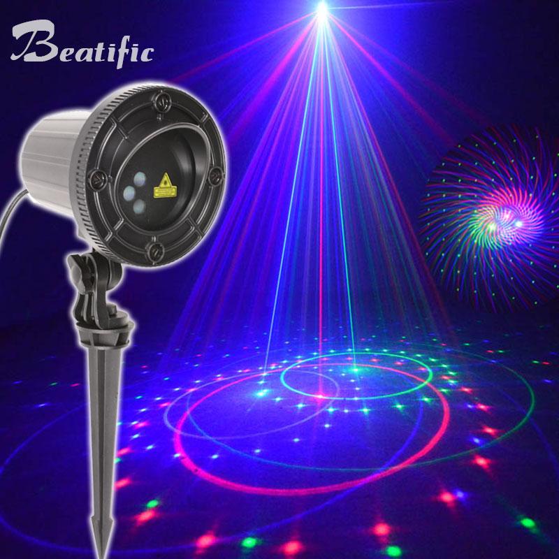 LED Laser Projektor Licht Weihnachten Landschaft Lamp Muster Garten BELEUCHTUNG