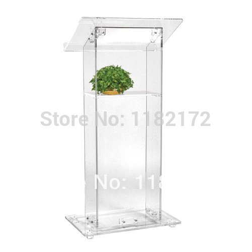 Cheap Manufacturing Customized Acrylic Lectern Acrylic Podium Pulpit Lectern