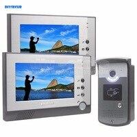 DIYSECUR Handfree Color LCD Display Video Door Phone Enter Intercom Doorbell Card Key Reader RFID LED Night Vision Camera