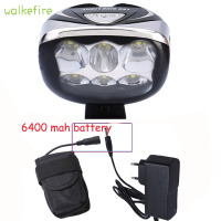 7000 Lumens Cree 6 Bike Light 3 Modes Cycling Safety Bicycle Front Lamp Waterproof Cycling Light
