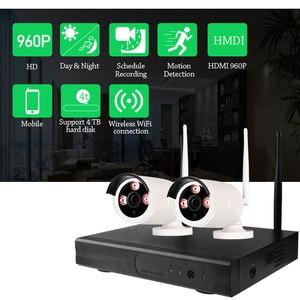 Image 5 - 4CH Wifi Cctv systeem Draadloze Nvr Kit 2 Stuks 960P Hd Ip Camera 1.3MP Outdoor Waterdichte Home Security Surveillance systeem