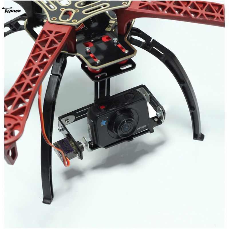 Cardán de cámara de un solo eje FPV Servo con soporte de montaje de asiento de cámara Multi para F450 RC FPV Multirotor Aircaft Quadcopter Drone DIY