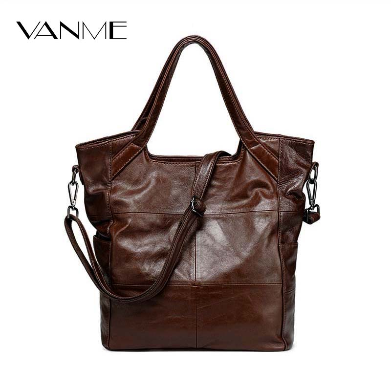 European And American Style New Ladies Bag Classic Fashion Women Handbag Genuine Leather Shoulder Bag Female Brown Messenger Bag dtbg pu leather women handbag fashion european and american style totes messenger bag original design briefcase zipper 2017