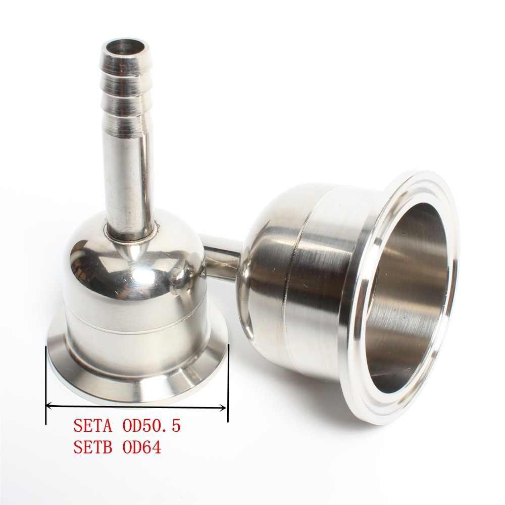 1.5 ''(38mm) OD50.5 x 9.5mm 2'' (51mm) OD64 x 9.5mm een spina di pesce Tri-clamp reducer