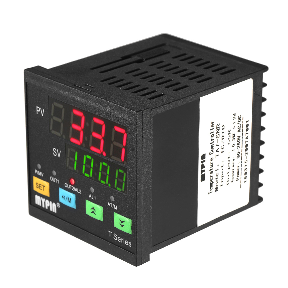 Automatic Digital Programmable Temperature Controller Thermometer SNR 1 Alarm Relay Output TC/RTD Input Dual LED display