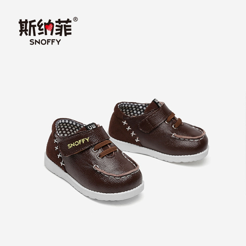 Snoffy Genine Leather Baby Boy Leather Shoes First Walkers Spring Autumn Baby Moccasins Infant Footwear Crib Shoes TX378