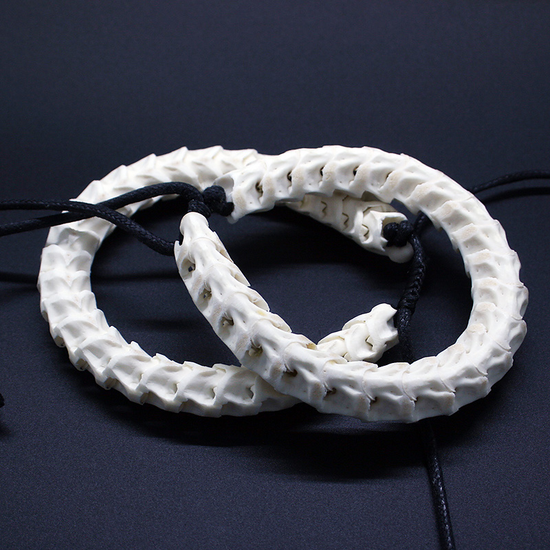 CasaPandora 100% Natural Real Snake Bone Bracelet Adjustable Personalized Unique Bracelet Bone Of Cobra Handmade prediction of bone length from bone fragments