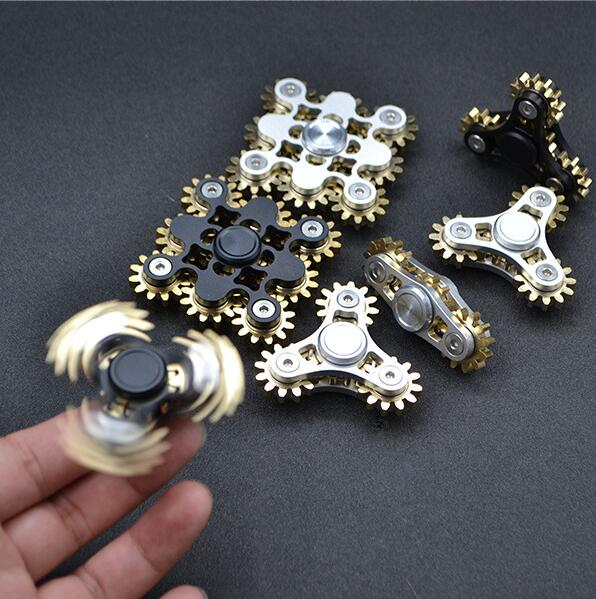 Mechanical Brass Gears Fidget Spinner Fingertip Finger Top Gyro Toys EDC ADHD Fidget Hand Spinner Spiral Desktop Anti Stress Toy