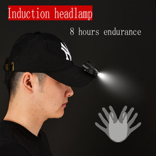 3w LED Body Motion Sensor Headlamp Mini Headlight Rechargeable Outdoor Camping Flashlight Head Torch Lamp With USB
