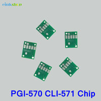 5Pcs For Canon PGI-570 CLI-571 Auto Reset Chip For Canon Pixma MG5750 MG5751 MG5752 MG5753 MG6850 Refill Ink Cartridge chip