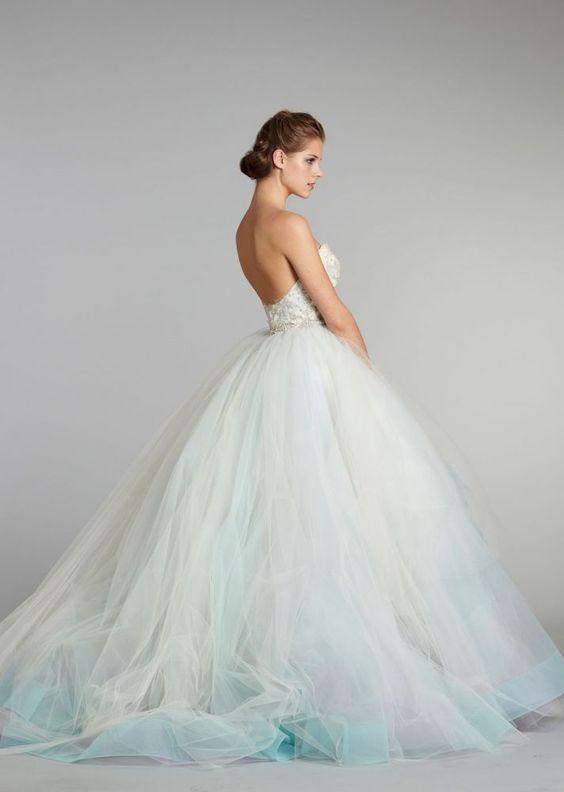 New Designer Fantastic Ball Gown Sweetheart Unique Colorful Vintage Wedding Dress 2016 Rainbow Dresses Vestido De Noiva In From