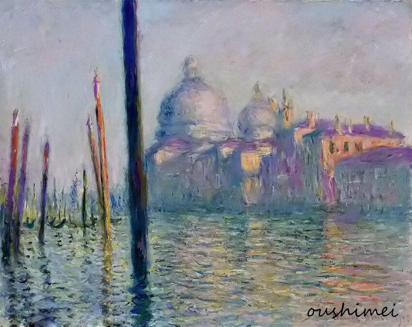 Impressionist Oil painting Hand-Painted Famous Monets Oil Painting on Canvas Venice Landscape for Home Decor Landscape Picture