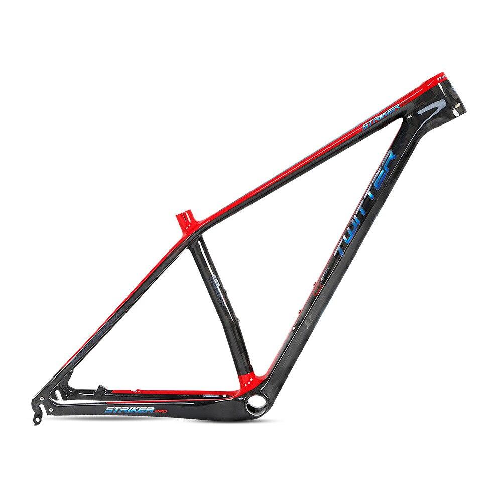 Twitter STRIKERpro MTB Carbon Frame Ultralight Mountain Bicycle Frames XC Lever Cable Internal Routing Disc Brake ESP UV Laser