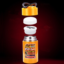 1000ml Stainless Steel Thermos container with lid cup portable handle thermo mug large capacity for keep food warm or cool