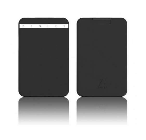 Zenlet New Arrivals The Ingenious Wallet BLACK with RFID Blocking Card The MINIMALIST & INGENIOUS WALLET WITH RFID-BLOCKING
