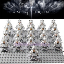 Game of Thrones Kingsguard Legoed Action Figure Corps Medieval Knight Soldiers Army Infantry Building Blocks Children Gift Toys lord of the rings corps witch king ringwraith king of the dead army mordor action figure building blocks children legoing toys