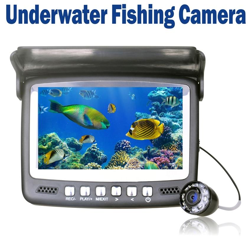 Ice underwater fish finder video camera fishing recording for Underwater ice fishing camera