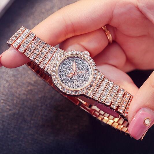 new top small dial Women Rhinestone Watches Lady Dress Women watch Diamond  brand Quartz Wristwatch Clocks Bracelet Crystal 7159e709949a