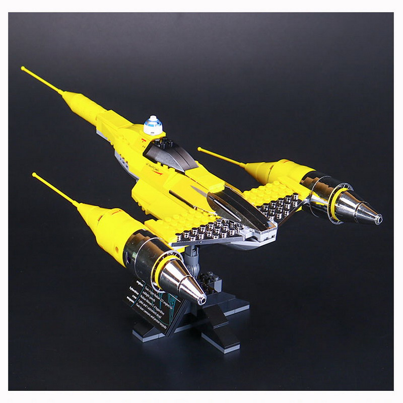 187Pcs LEPIN 05060 STAR WARS Naboo Starfighter Figure Blocks Compatible Legoe Construction Building Toys For Children