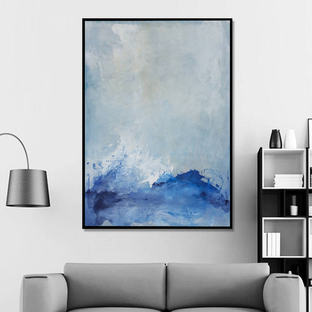 Abstract Larger Cloud Landscape Poster Canvas Painting Wall Art Canvas Pictures for Living Room Modern Art Home Decor No Frame in Painting Calligraphy from Home Garden