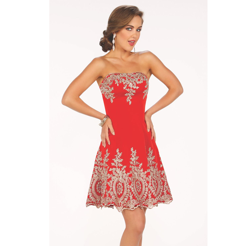 Popular Red Cocktail Dress-Buy Cheap Red Cocktail Dress lots from ...