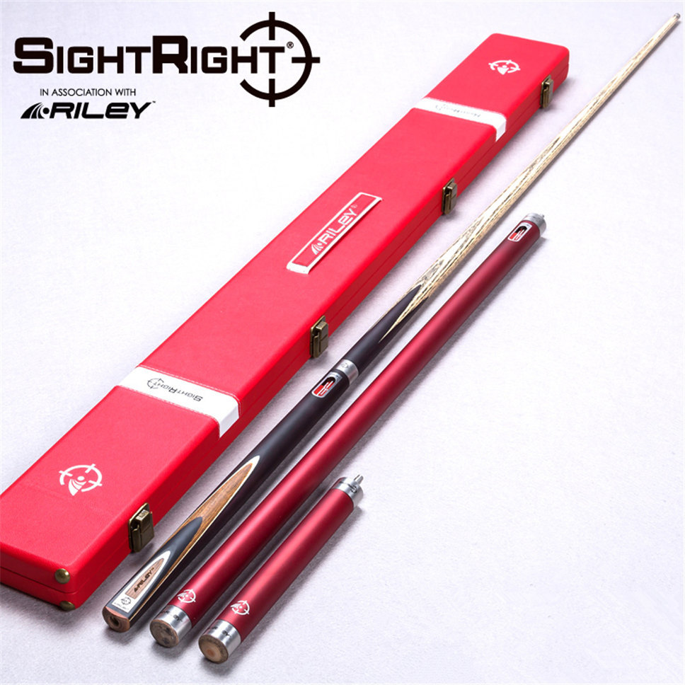 Import Riley SightRight Cue RSR-3 Snooker cue,145cm ,cue tip 9.5mm, handmade 3/4 billiard cue, free shipping omin snooker cue union the top level 145cm length 10mm cue tip ash wood 3 4 handmade billiard stick free shipping