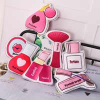 Mädchen Kosmetik Serie Kissen Machen Up Lippenstift Parfüm Nagellack Gefüllte Plüsch Kissen Weiche Kissen Für Mädchen