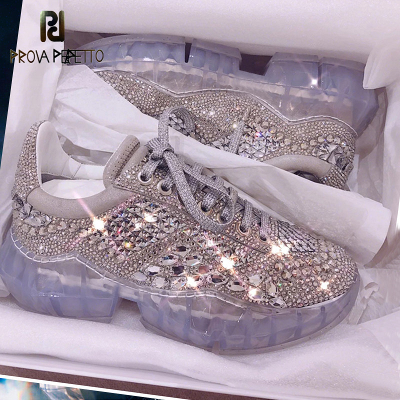 2019 Women Shiny Hottest Brand Sneakers Bling Bling Luxury Rhinestone Dad Sneakers Shoes Amazing Quality Fashion