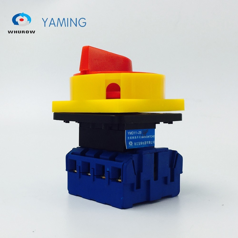 цена на YMD11-25/4P Isolator Switch ON-OFF 690V 25A Padlock 2 position 4 Poles Main Rotary Cam Switch Emergency stop