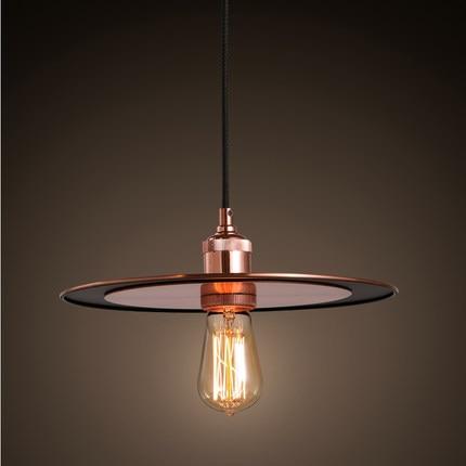 цены Simple Home Retro Matal Pendant Lamp Saucer Decoration Creative Loft Light Restaurant Light Free Shipping