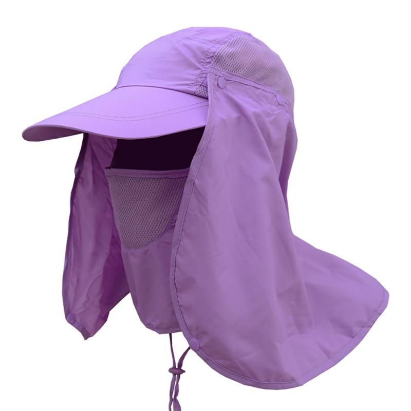 Unisex Sun Hat Waterproof Bucket Hats Women Hunting Caps Men Face Mask Neck Cover Hats For Women Men