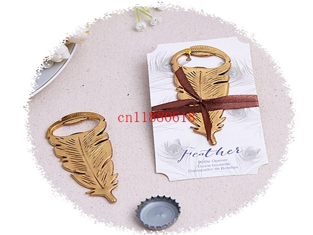 Wedding Gifts Usa: 200pcs/lot Free Shipping Peacock Feathers Bottle Opener