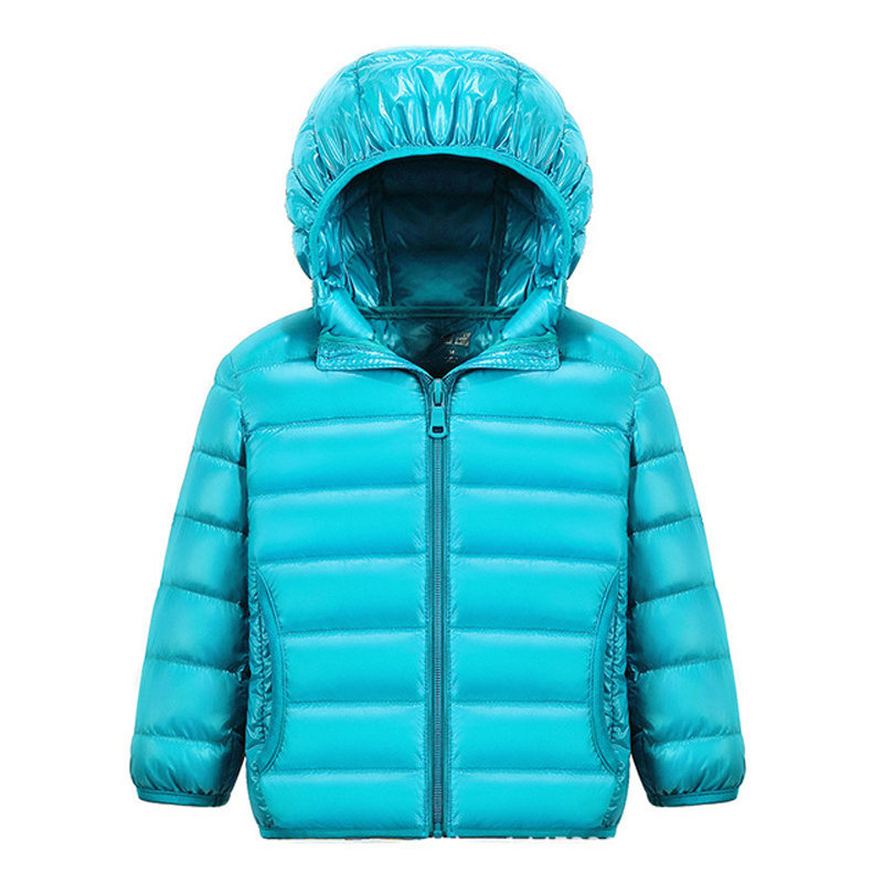 90% White DucK Down Winter Jackets for Boys Girls Ultra Light Portable Hooded Down Coat Overalls for Children Baby Down Jacket 6