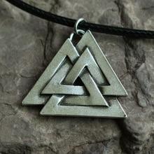 20pcs punk VALKNUT Viking Pewter retro Pendant Norse Jewelry pendant Scandinavian Jewellery Vikings triangle shape amulet