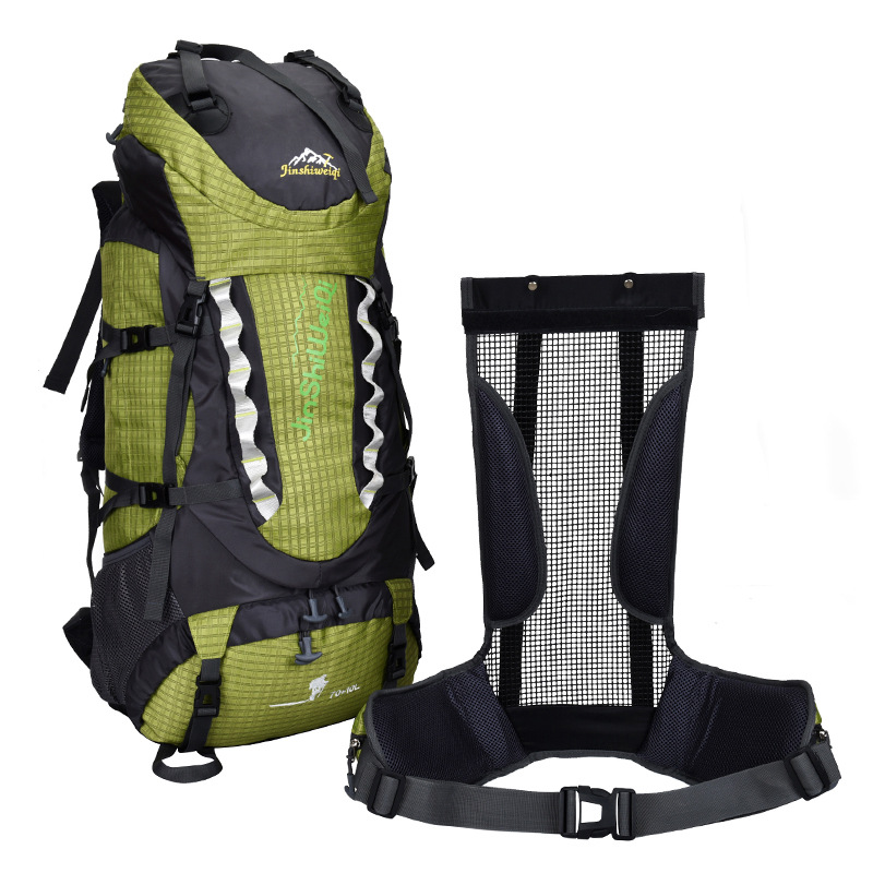 2017 New 80 Liters Carrying System Bracket Outdoor Mountaineering Bag Men And Women Backpack Travel   Large Capacity A4357 75l external frame support outdoor backpack mountaineering bag backpack men and women travel backpack a4809