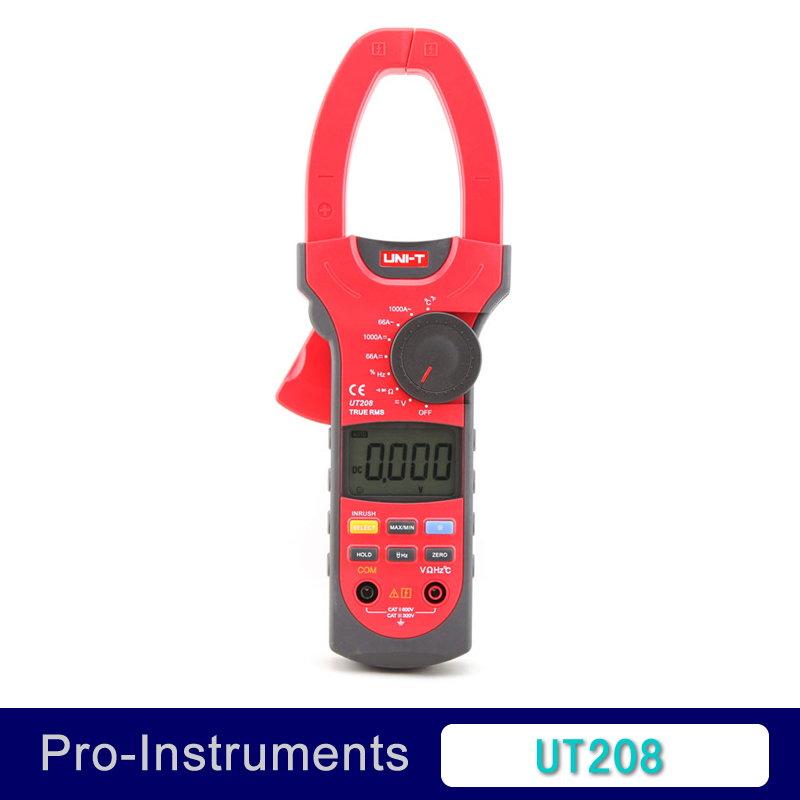 UNI-T UT208 True RMS Digital Clamp on Meter Multifunction Auto Range Multimeter ACDC Voltage Current TEMPERATURE Tester DMM чашка poma с анатомической ручкой в ассортименте