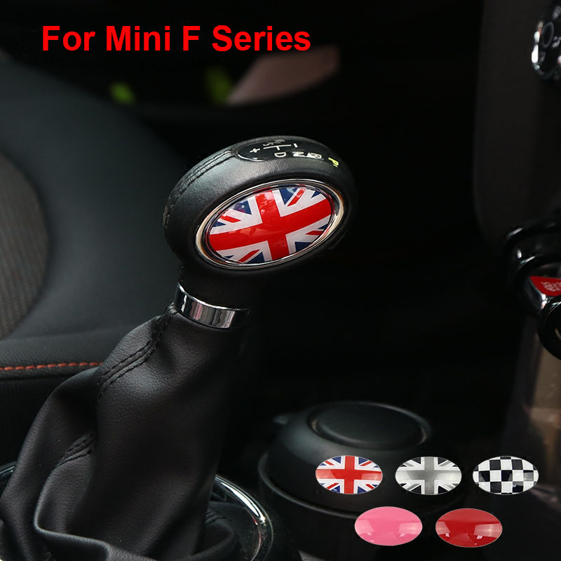 2PCS Union Jack Car Gear Shift Knob Panel Cover Cap Emblem Stickers for MINI Cooper S