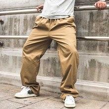 Новая мода Для мужчин брюки-карго Свободные мешковатые эластичный пояс сбоку карман на молнии повседневные штаны плюс Размеры джоггеры Демисезонный лето