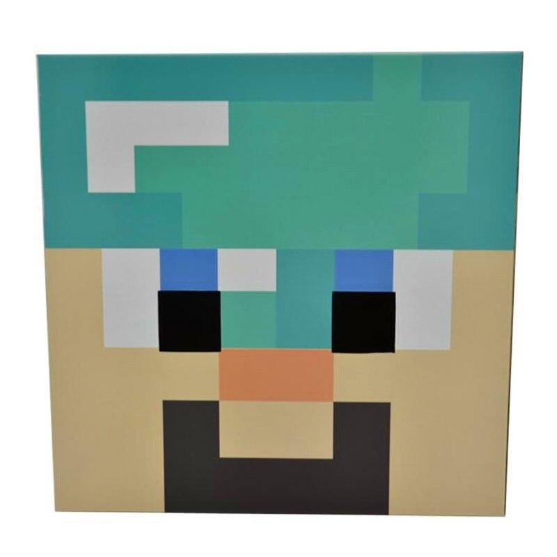 minecraft diamond steve cardboard heads cosplay use diy steve full