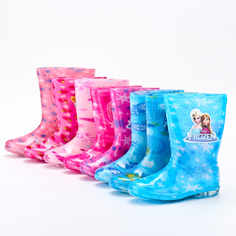 Image 2 - 2019 new Disney princess frozen children rain boots rubber shoes cartoon men and women PVC girls  water shoes size 26 31-in Boots from Mother & Kids